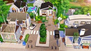 Tiny House Neighborhood   The Sims 4 - Speed Build  No Cc