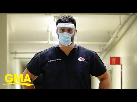 NFL lineman helping on the front lines of coronavirus pandemic l GMA image
