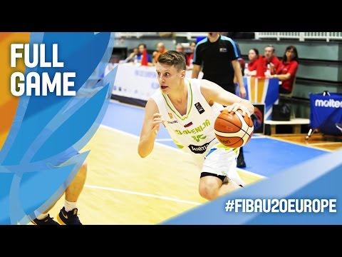 Slovenia v Sweden - Full Game - CL 9-10 - FIBA U20 European Championship 2016