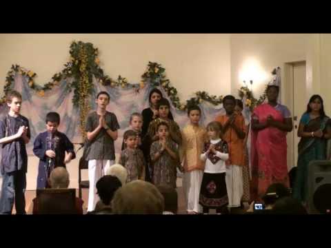 Gurukula Fundraiser - Gurukula Students reciting Bhagavad Gita verses