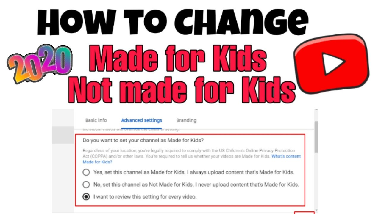 How To Change Youtube Videos Are Made For Kids Youtube Made For Kids Copra Youtube