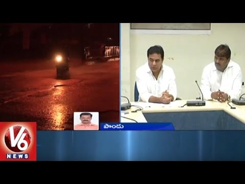 Heavy Rains In Telangana State | GHMC Alerts Hyderabad City People | V6 News
