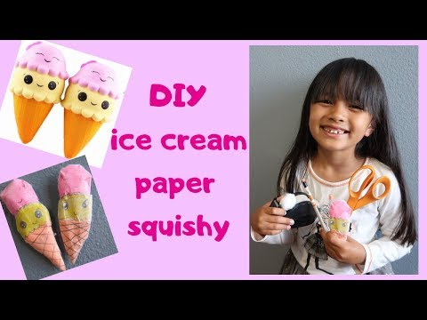 DIY ICE CREAM PAPER SQUISHY | Tiffy Spiffy LA