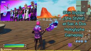 Skin Styliste (The Stylist) et SacADos Hologlyphe Gameplay Fortnite