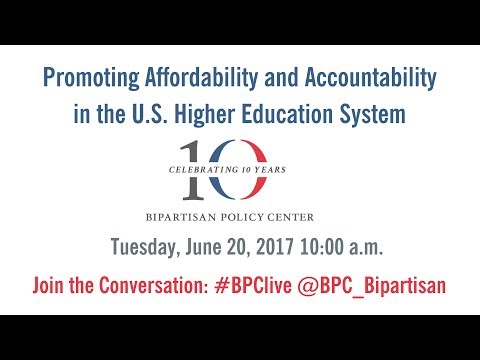 Promoting Affordability and Accountability in the U.S. Higher Education System