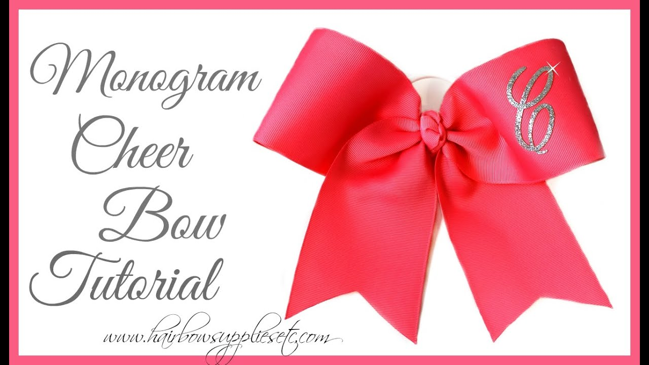 How to add a monogram letter to a cheer bow hairbow supplies etc how to add a monogram letter to a cheer bow hairbow supplies etc altavistaventures Gallery
