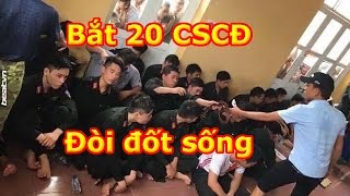 Biến Căng Hà Nội: Hàng chục CSCĐ cướp đất bị người dân Đồng Tâm bắt nhốt tưới xăng đòi đốt sống