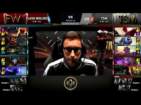 FW vs TSM - 2017 MSI Group Stage - Flash Wolves vs Team SoloMid