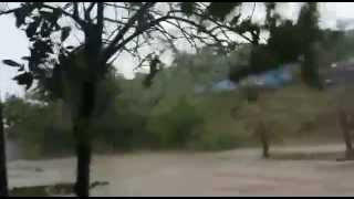 Huracán Patricia pasando por comunidad Emiliano Zapata municipio de La Huerta, Jalisco