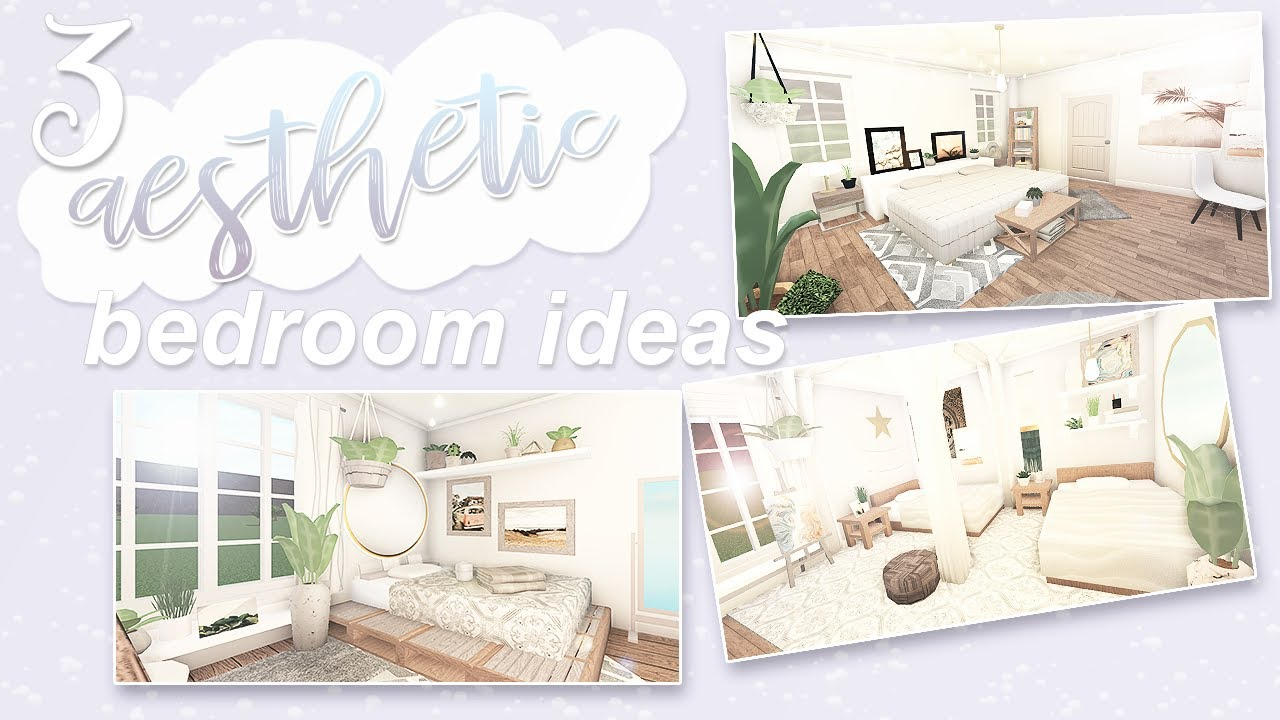 3 Aesthetic Bedroom Ideas Roblox Bloxburg Youtube