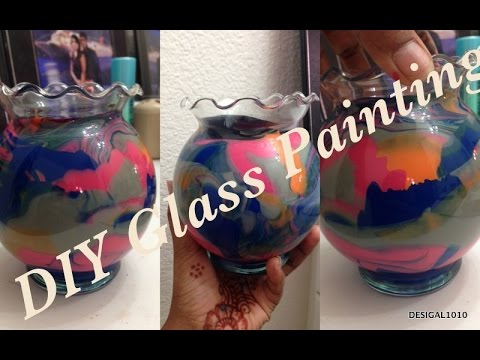 Glass Painting Ideas Easy Home Decor Craft Ideas How To Paint Glass Youtube