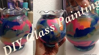 Glass Painting Ideas/Easy Home Decor Craft ideas - How to paint glass