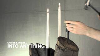 Pipe Candle Holder Vertical