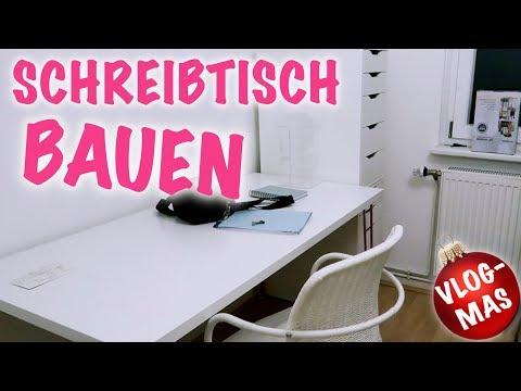 Schreibtisch bauen, Möbel aufbauen WOHNUNGSVLOG Vlogmas #3 I Meggyxoxo