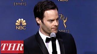 Bill Hader: 2018 Emmy Awards Winner Backstage Interview   THR