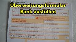 Anleitung SEPA Überweisung ausfüllen IBAN BIC Geld überweisen