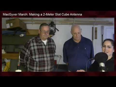 MacGyver March: How to Build a 2-Meter Slot Cube Antenna