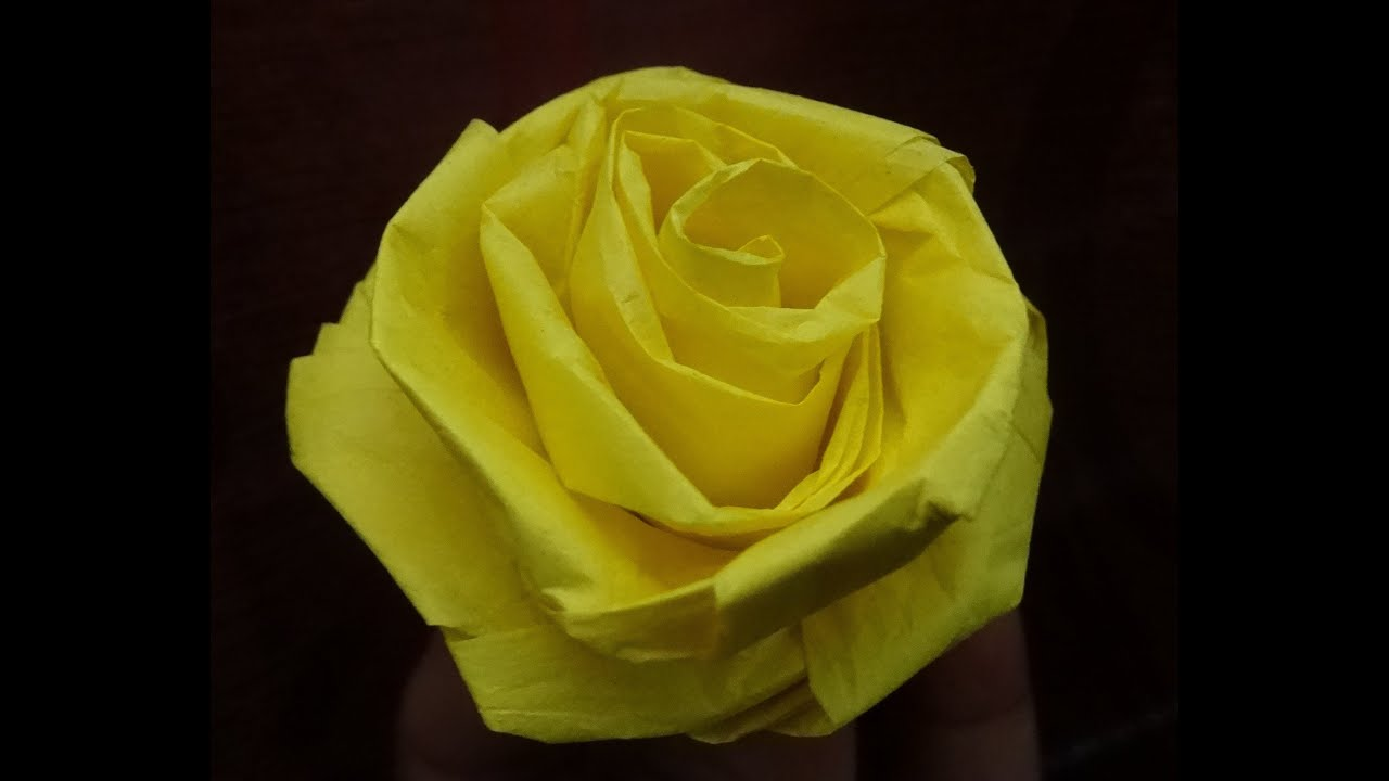 How To Make A Rose With Tissue Paper Quick And Easy Youtube