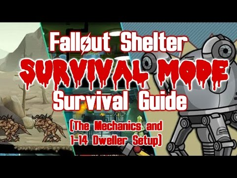 Fallout Shelter Survival Mode: Survival Guide  (Mechanics And 1-14 Dwellers)