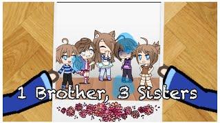1 Brother, 3 Sisters | Gacha Life Mini Movie