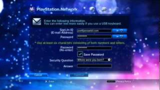 Creating a Master Account for the PlayStation®Network.flv