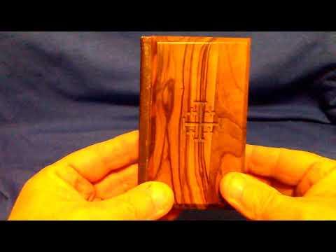 Little wooden bible