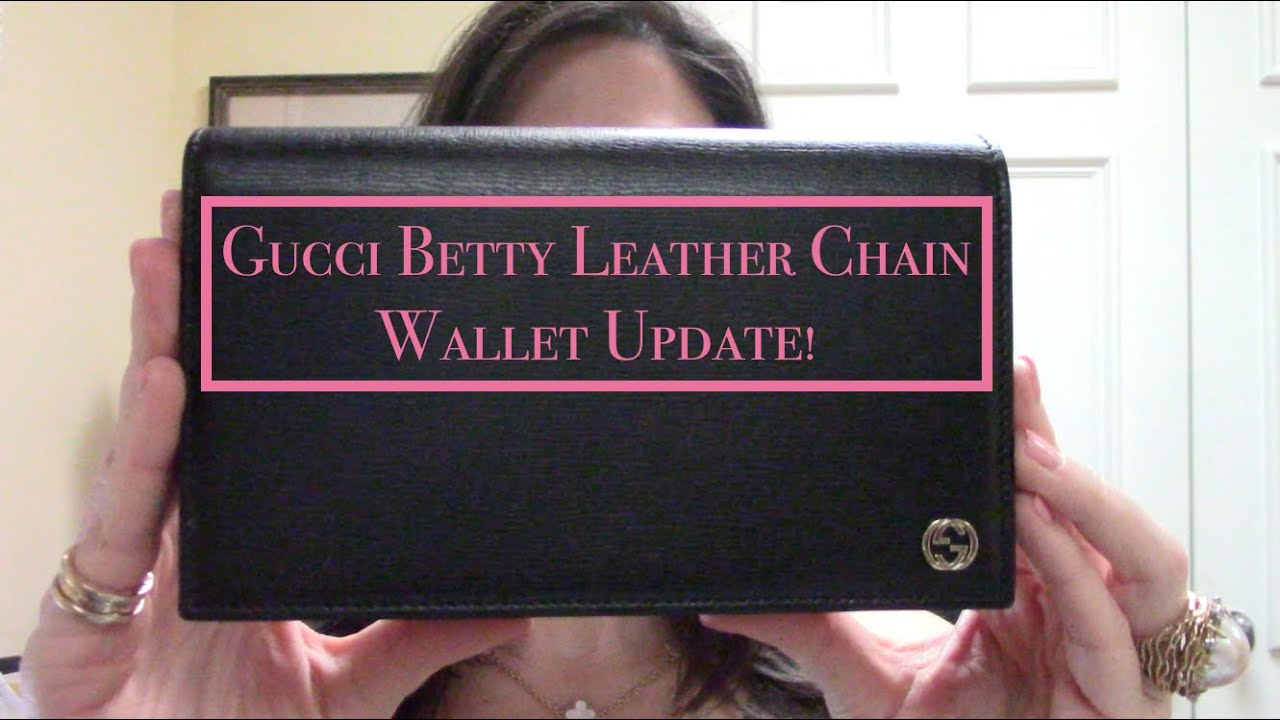59e016d0ad5 Gucci Betty Leather Chain Wallet UPDATE - YouTube