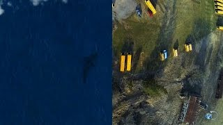 A Satellite Photo of Megalodon? | Shark Week