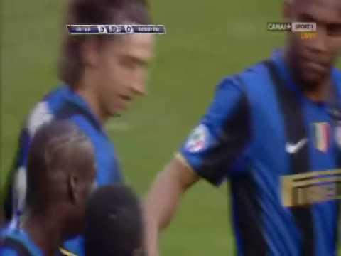 Zlatan Ibrahimovic - chip goal - Serie A - Inter Milan vs Reggina