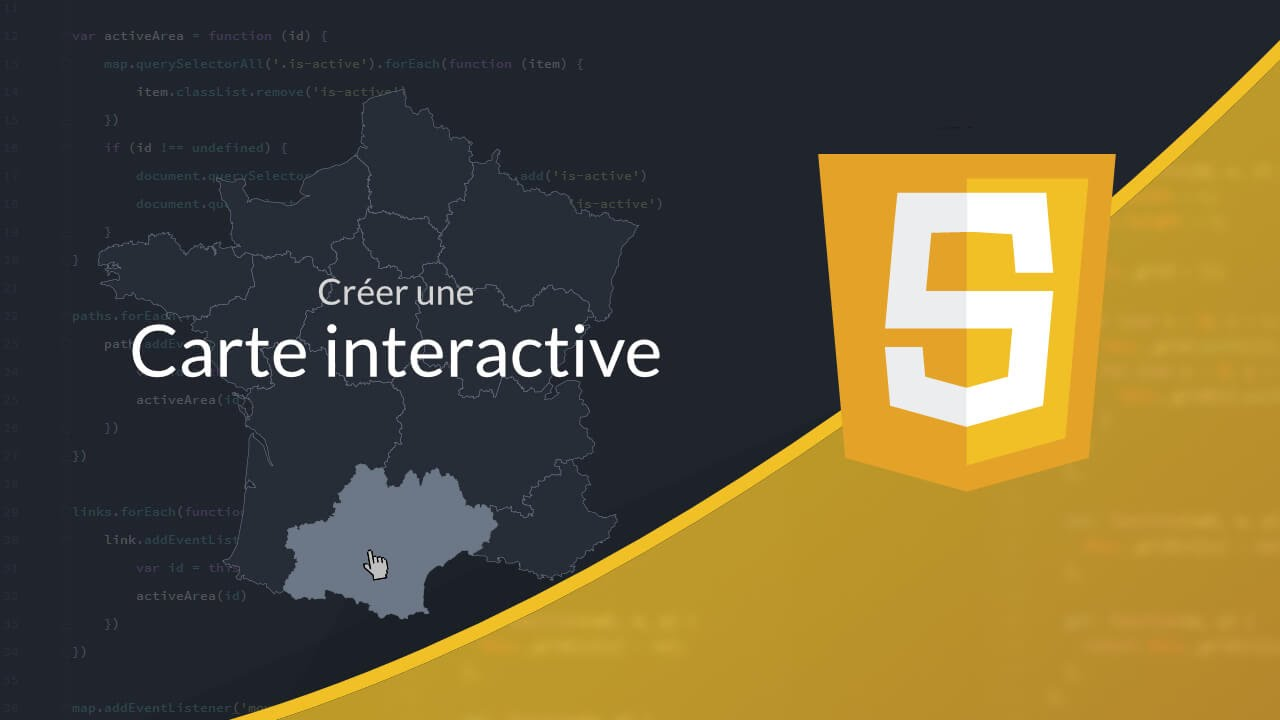 Tutoriel JavaScript Carte Interactive En SVG