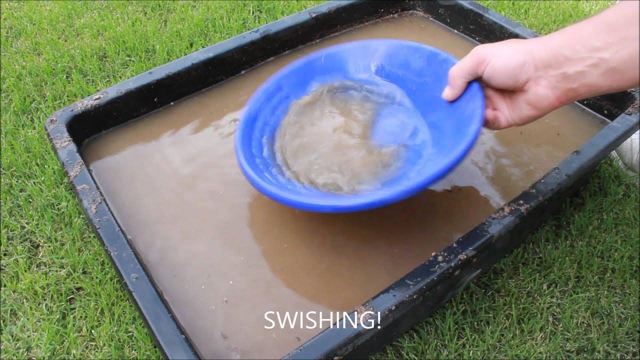 backyard gold panning youtube