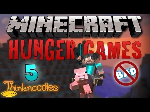 Minecraft: Hunger Games w/Thinknoodles - Game 5: Think Is Not Bad Travel Video