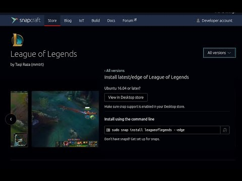 league of legends ubuntu snap