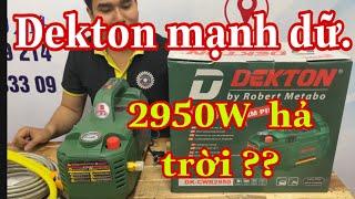 máy rửa xe DEKTON 2950W  mạnh đến mức nào / Máy xây dựng Thái Bảo .