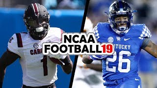South Carolina @ Kentucky - 9-28-18 NCAA Football 19 Week 5 Simulation