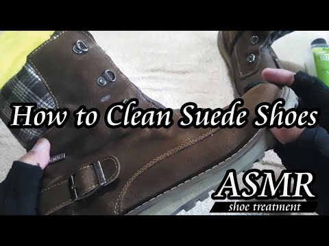 [ASMR] How to clean Suede Shoes