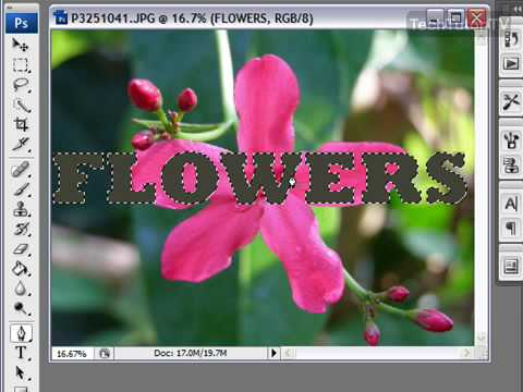 Put An Image Inside Of Text In Photoshop CS3