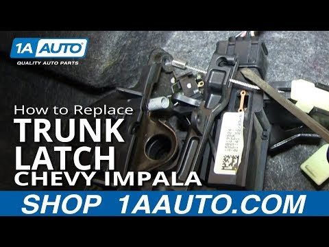 How To Replace Trunk Latch 06-12 Chevy Impala