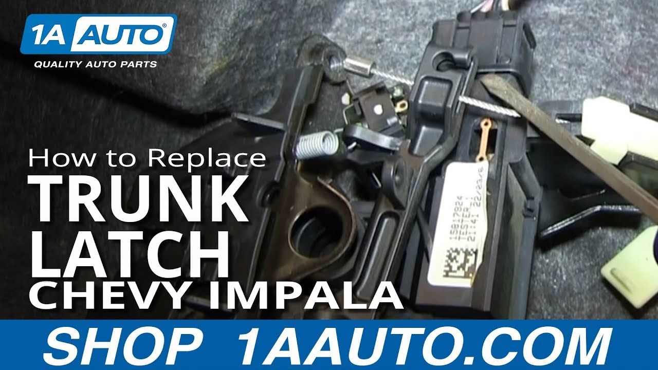 how to replace trunk latch 06 12 chevy impala [ 1280 x 720 Pixel ]