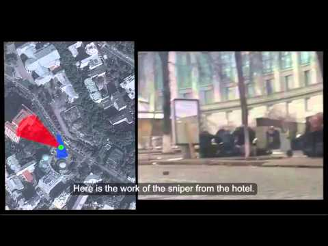 Analysis of snipers shooting crowds in Kiev, February, 2014