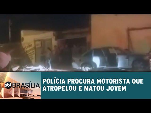 Polícia procura motorista que atropelou e matou jovem de 17 | SBT Brasília 13/02/2019