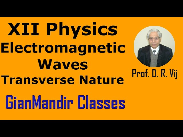 XII Physics | Electromagnetic Waves | Transverse Nature of Electromagnetic Waves by Amrinder Sir