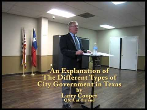 An Explanation of Texas City Governments in Texas by Larry Cooper