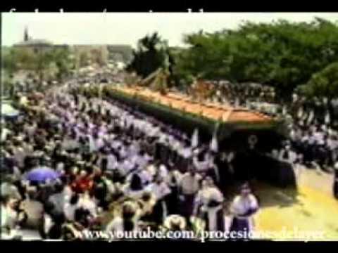 1997 Semana Santa Guatemala Jueves Santo Jesus Nazareno Cristo Rey Templo de Candelaria.