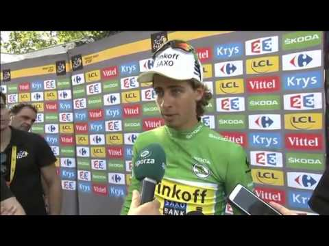 Peter Sagan funny interview (The Wolf of Wall Street) TDF 2015