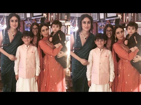 Little Taimur Ali Khan looks adorable celebrating Diwali With Mausi Karisma and mum Kareena Kapoor