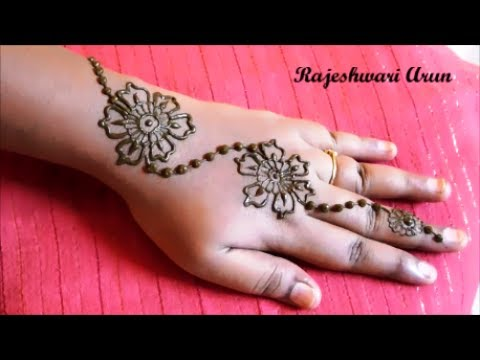 Very Simple Easy Mehndi Henna Designs For Hands For Eid Latest