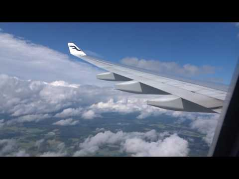 Finnair Airbus A330 Landing Helsinki, Finland coming from Chicago, IL RWY 22L