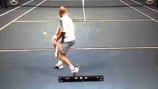 agassi backhand rear view set up