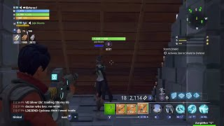 Scammer gets scammed through stone wood under map glitch Fortnite battle royale